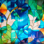 R05006 Dove Stained Glass Window Film