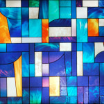 R05008 Abstract Stained Glass Window Film