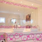 PV09086 Circles Border Pink