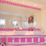 PV09084 Squares Border Pink