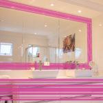 PV09078 Stripe Border 6 Pink