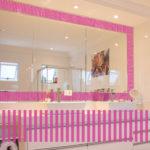 PV09080 Stripe Border 8 Pink