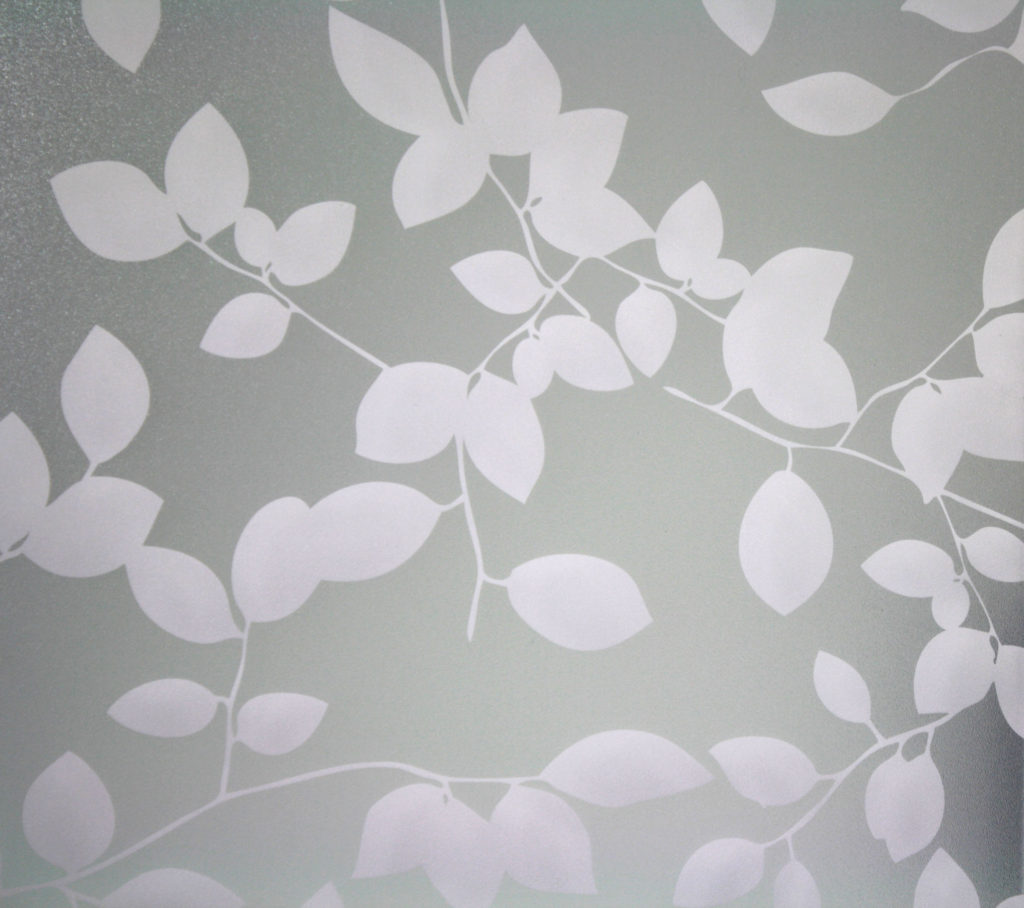 PV03046 Privacy Leaves on Sandblast White