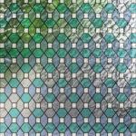 Aqua And Fog Blue Leaded Glass PV09027