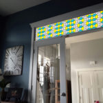 Yellow And Aqua Leaded Glass PV09033