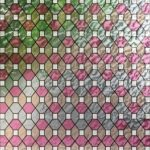 Pink And Peach Leaded Glass PV09035