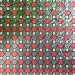 Scarlet And Grey Leaded Glass PV09023